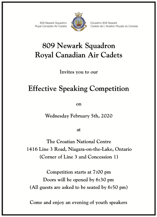 2020 Effective Speaking Competition